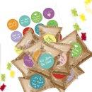 24 kleine Gummibärchen Tüten mit bunten...