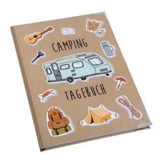 Kleines Camping Tagebuch DIN A5 - Campingbuch zum Selberschreiben mit Metallecken