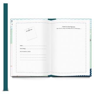 Großes XXL Kollegenbuch DIN A4 mit Metallecken - blau grün - Geschenkbuch zum Abschied