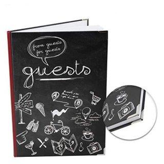 Gästebuch international GUESTS - Gäste Buch DIN A4 leer blanko mit Metallecken