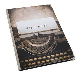 Buch blanko zum Selberschreiben MEIN BUCH - Notizbuch DIN A4 - Tagebuch mit Metallecken