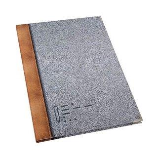 XXL Notizbuch bedruckt in Filz-Optik DIN A4 Hardcover mit leeren Seiten - Blankobuch mit Metallecken