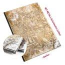 Kleines Notizbuch ALTE WELT hellbraun beige DIN A5 -...