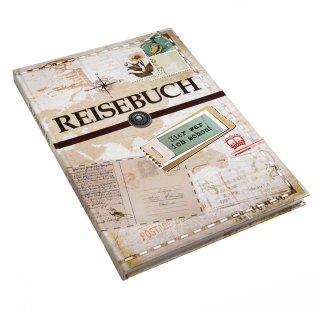 XXL Reisetagebuch Reisebuch DIN A4 Notizbuch mit leeren Seiten & Metallecken - Geschenk Buch Reise