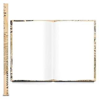 Vintage Notizbuch mit leeren Seiten DIN A4 nostalgisch mit Motiv PARIS - Buch blanko mit Metallecken
