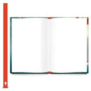 XXL Notizbuch Ideenbuch Skizzenbuch DIN A4 blau mit Glühbirnen - Hardcover mit Metallecken