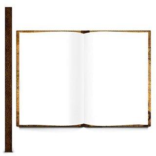 XXL Notizbuch DIN A4 Hardcover braun ELEFANT - Vintage Buch mit leeren Seiten & Metallecken