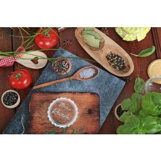 Leeres Rezeptbuch Kochbuch zum Selberschreiben DIN A4 Geschenk Weihnachtsgeschenk - mit Metallecken