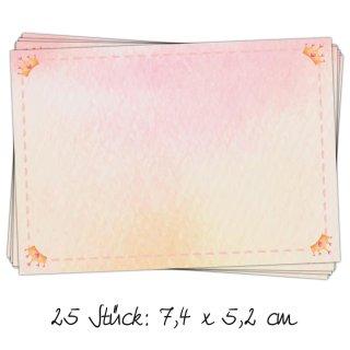 25 Adressaufkleber Namensaufkleber rosa gold zum Beschriften rechteckig 7,4 x 5,2 cm