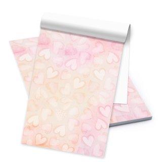 Briefblock DIN A5 rosa pink - 50 Blatt Briefpapier mit Herzen - Motivpapier Bastelpapier Geschenk Mädchen
