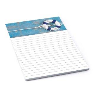 Notizblock Schreibblock Briefpapier maritim DIN A5 100 Blatt LINIERT blau weiß