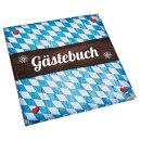 Gästebuch bayerisch blau weiß 21 x 21 cm...