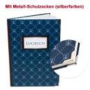 Großes DIN A4 Logbuch dunkelblau mit ANKER-Motiv -...