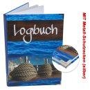 Logbuch Sailing DIN A4 blau braun Hardcover mit...
