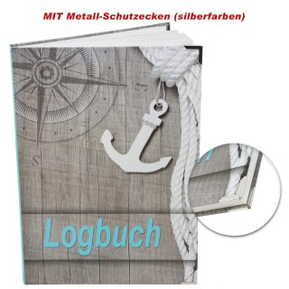 Logbuch Ocean DIN A4 Hardcover - Schiffstagebuch nach amtlichen Vorschriften mit Metallecken