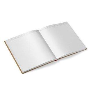 Hochzeitsgästebuch mit Brautpaar 21 x 21 cm Gästebuch braun rot weiß zur Hochzeit mti Metallecken