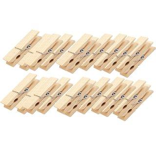 24 Wäscheklammern braun natur aus Holz Holzklammern 4,5 x 0,7 cm Deko