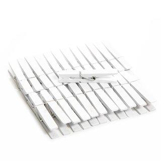 24 weiße 7 cm Holzklammern Wäscheklammern Fotohalter Halterung Tischkarten Clip