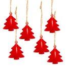 6 kleine Bäume aus Metall zum Aufhängen -...