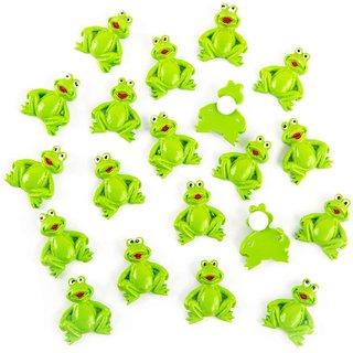 20 kleine Mini Frösche mit Klebepunkt Streudeko Tischdeko Geschenkaufkleber Froschkönig