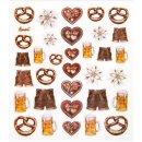 30 selbstklebende Sticker mit bayerischen Motiven - Breze...