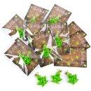 10 kleine Geschenke - grüner Frosch + rustikales...