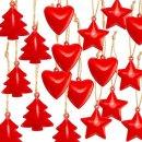 Großes Weihnachtsanhänger Set - 6 x 3...