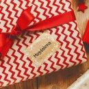 25 Kraftpapier Aufkleber Weihnachtsaufkleber für Namen - Geschenketiketten weihnachtlich 7 x 5 cm