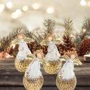4 Engelfiguren gold grau glänzend - Engel Deko Figuren als Weihnachtsdeko Give-Away Geschenk Weihnachten