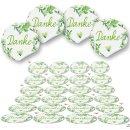 Dankessticker rund - 4 cm - grün weiß...