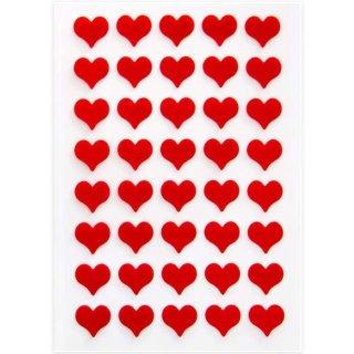 Filzherzen rot - 1,4 cm - selbstklebend - kleine Herz Aufkleber als Deko & Geschenkaufkleber