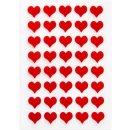 Filzherzen rot - 1,4 cm - selbstklebend - kleine Herz...