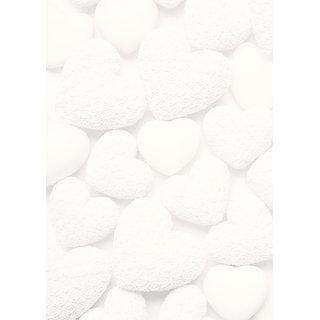 Briefpapier Druckerpapier blanko mit weißen Herzen beidseitig bedruckt 100g Motivpapier DIN A4