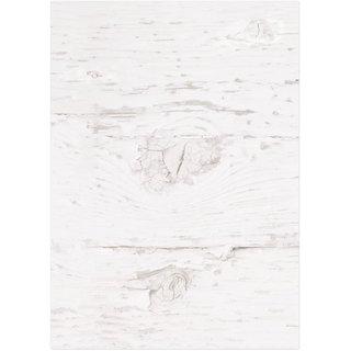 Briefpapier in Holzoptik weiß beidseitig bedruckt 100g Motiv-Papier DIN A4 shabby vintage
