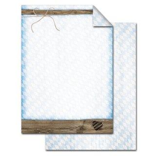 Briefpapier DIN A4 mit Rautenmuster bayerisch blau weiß - Motivpapier Bayern