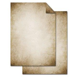 Vintage Briefpapier DIN A4 beidseitig bedruckt beige braun marmoriert