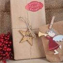 Weihnachtssticker zum Beschriften in verschiedenen...
