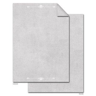 Briefpapier Druckerpapier grau weiß edel DIN A4 - Schreibpapier für Einladungen & Briefe