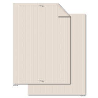 Briefpapier Druckerpapier beige edel DIN A4 - Schreibpapier für Einladungen & Briefe