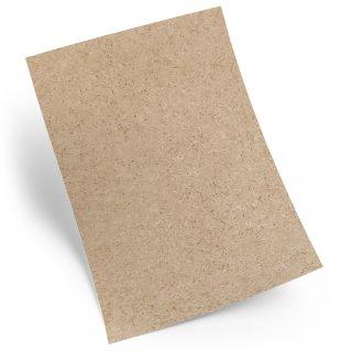 Briefpapier beige braun in Kork-Optik - Motivpapier zum Basteln & Bedrucken DIN A4