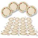 Blanko Weihnachtsetiketten rund - 4 cm - vintage beige...