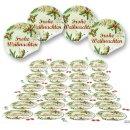 Aufkleber Frohe Weihnachten - 4 cm rund - rot grün...