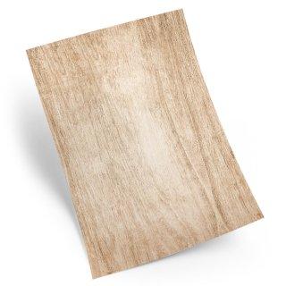 Briefpapier in Holzoptik braun - Motivpapier Bastelpapier Holz DIN A4 zum Beschriften & Bedrucken
