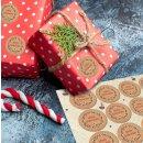 Aufkleber Schöne Weihnachten  - rund 4 cm -...
