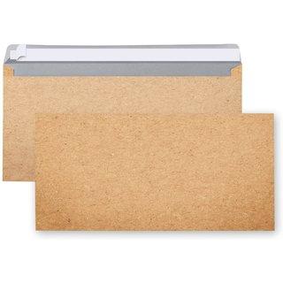 Briefumschläge braun in Kraftpapier-Optik DIN lang 22 x 11 cm - Briefkuvert für Briefe & Einladungen
