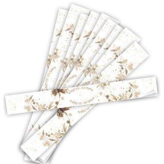 Weihnachtliche Aufkleber länglich braun weiß  beschriftbar 5 x 42 cm Versandkartons Versandschachteln Pakete