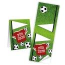 Fußballaufkleber eckig - 5 x 14,8 cm - mit Text...