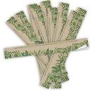 Geschenkaufkleber grün neutral 5 x 42 cm lang...