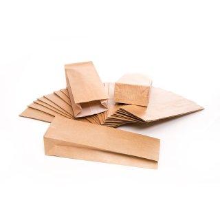 Blockbodenbeutel braun 7 x 20,5 x 4 cm Folien Einlage Geschenkbeutel Sackerl Gastgeschenk