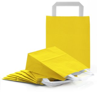 Gelbe Papiertüte mit Henkel & Boden 18 x 22 x 8 cm als Verpackung an Ostern Geburtstag
